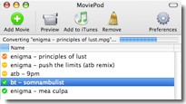 MoviePod for your iPod Video